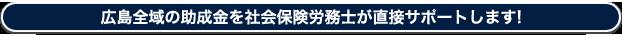 広島全域の助成金を社会保険社労士が直接サポートします!